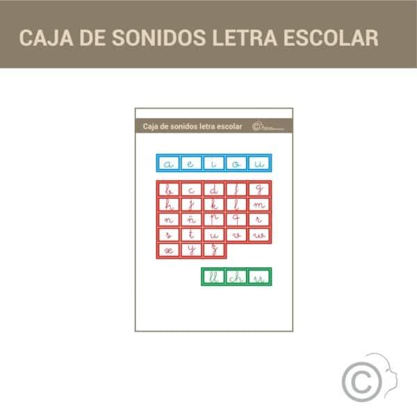 Caja de sonidos alfabeto Montessori (escolar)
