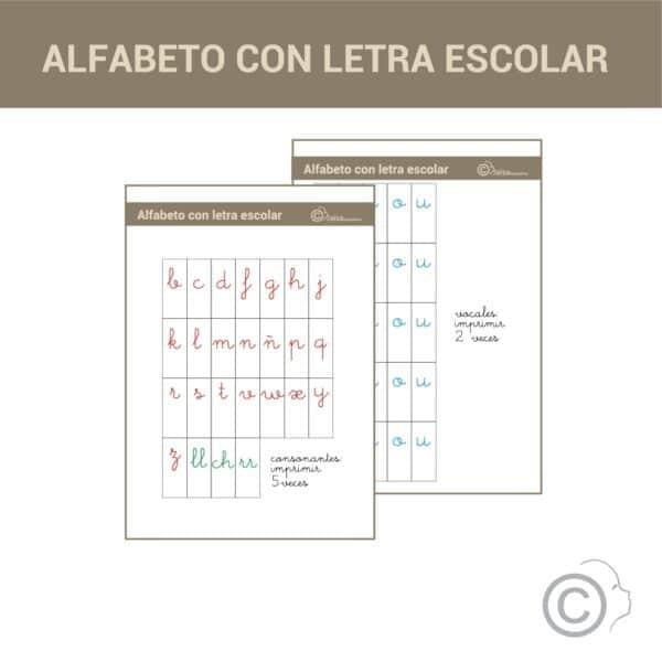 Alfabeto Montessori (letra escolar)