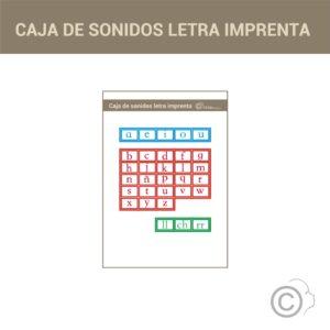 Caja de sonidos alfabeto Montessori (imprenta)