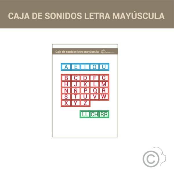 Caja de sonidos alfabeto Montessori (mayúsculas)