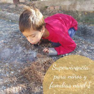 Curso online de Supervivencia para niños y familias. Nivel I