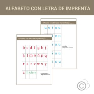 Alfabeto Montessori (letra imprenta)