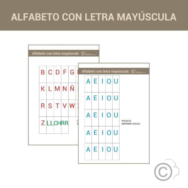 Alfabeto Montessori (mayúsculas)