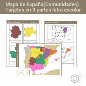 Mapa de españa escolar