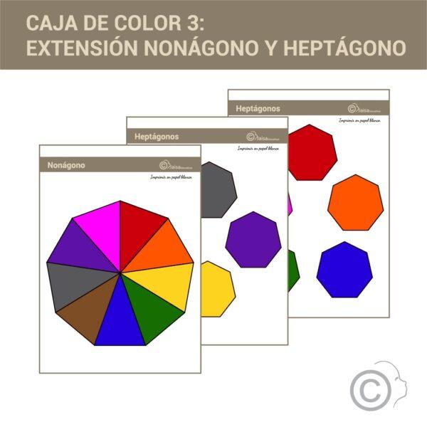Nonágono / heptágonos. Caja de color 3