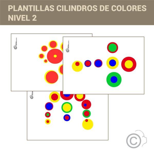 Plantillas Cilindros colores. 3D