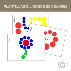 Plantillas cilindros de colores