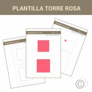 Plantillas Torre Rosa con número