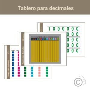 Tablero para decimales
