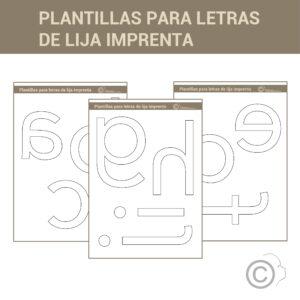 Letras de Lija (letra imprenta)