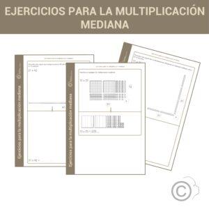 Ejercicios para la multiplicación mediana