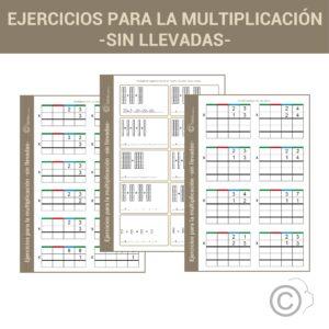 Ejercicios para la multiplicación sin llevada