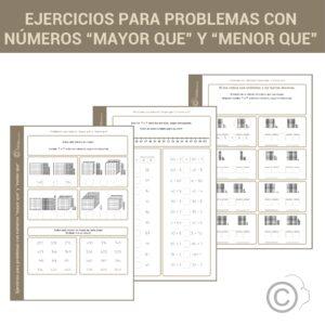 """Problemas con números """"mayor que"""" y """"menor que"""""""